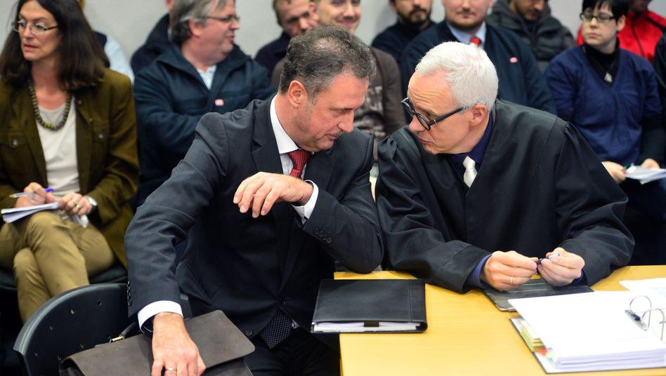 GDL-Chef Weselsky, sein Anwalt Groß: Im Bahnstreik muss das Gericht entscheiden