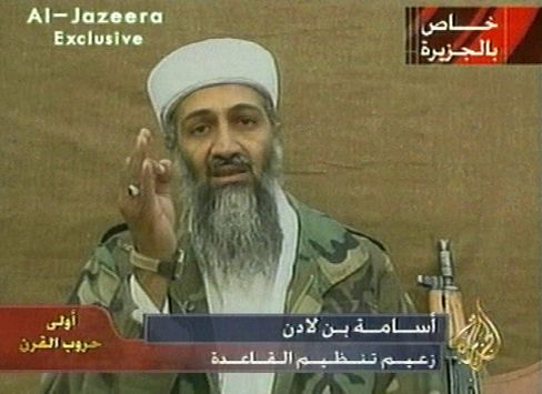 """Osama bin Laden in a 2001 video: """"A window of opportunity for al-Qaida to regroup"""""""