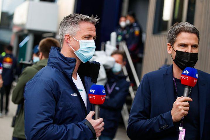 Motorsportfernsehexperte Ralf Schumacher (links)