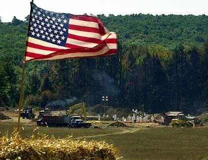 Shanksville: Die Absturzstelle von United Airlines-Flug 93 am 16. September 2001