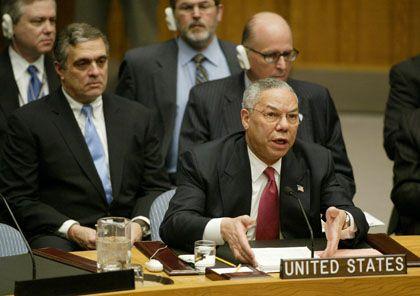 Ungenannte Quellen: Colin Powell vor dem Uno-Sicherheitsrat