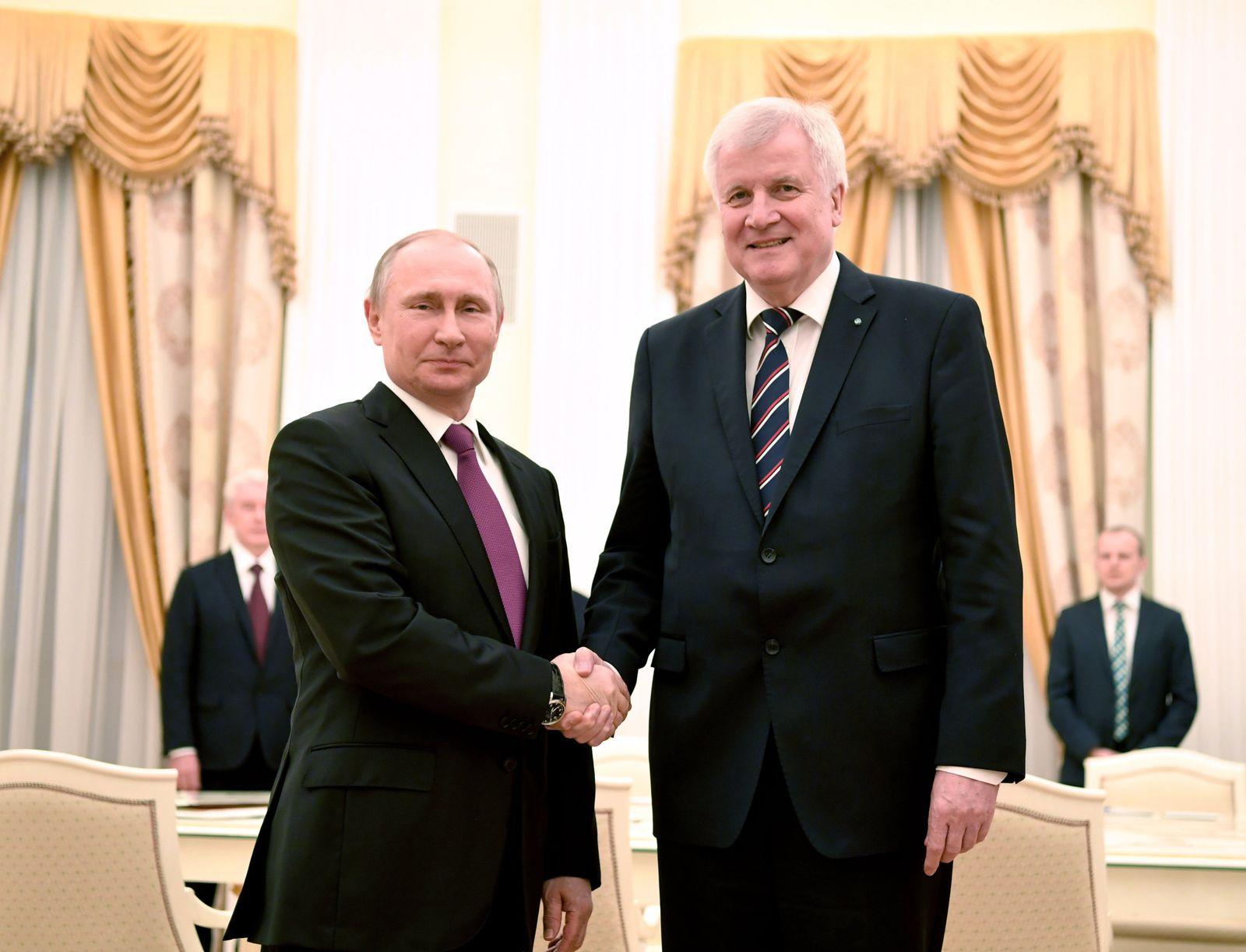 Wladimir Putin / Horst Seehofer / Moskau