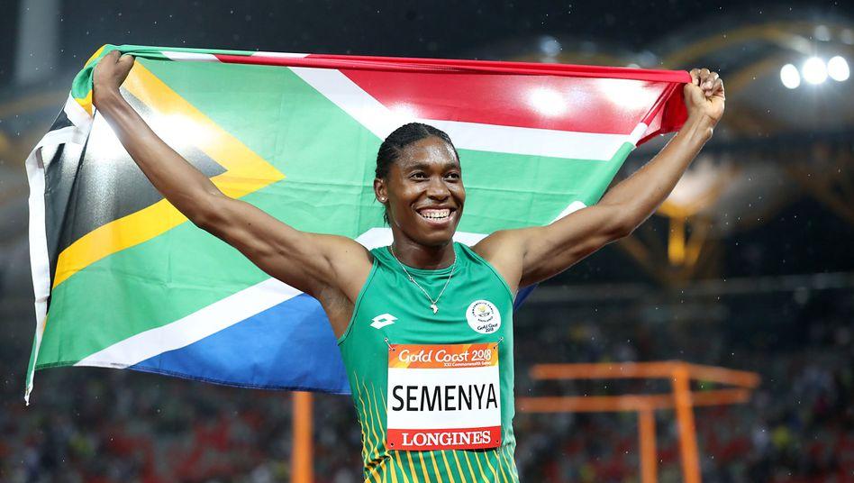 Caster Semenya nach ihrem Sieg über 1500 Meter bei den Commonwealth Games
