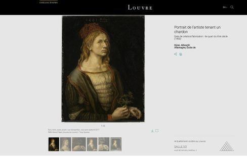 Datenbank mit Dürers Selbstbildnis: Das einzige Gemälde des Deutschen in Frankreich