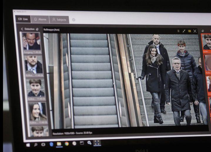 Test einer Gesichtserkennungs-Software am Südkreuz (Archivbild)