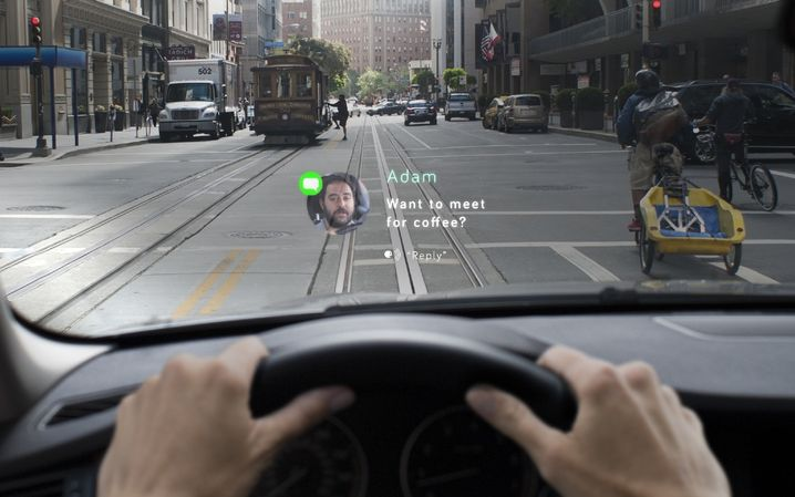 Heads-up-Display: So soll Navdy in Aktion aussehen