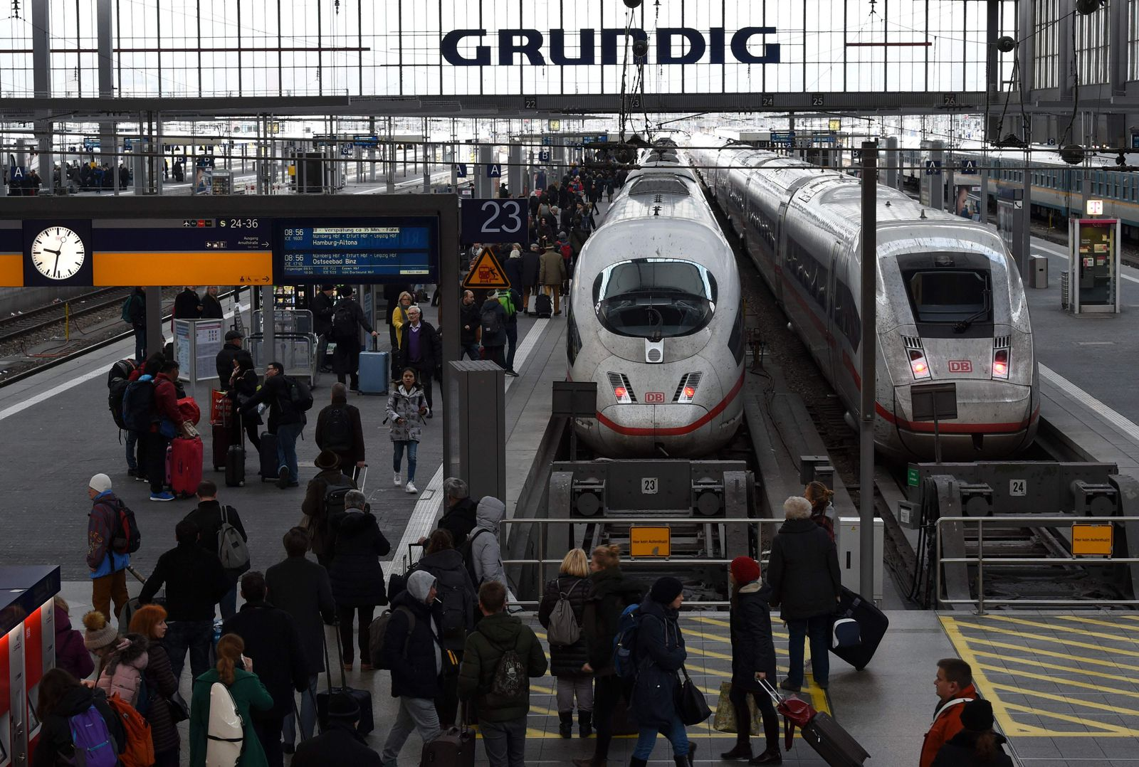 GERMANY-TRANSPORT-RAIL-DEUTSCHE-BAHN-STRIKE