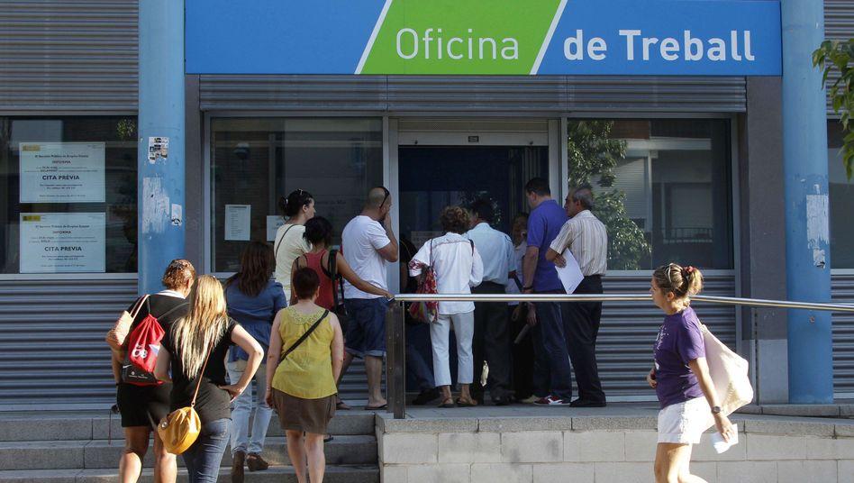 Arbeitsamt im spanischen Premia de Mar: Zahl der Arbeitslosen droht weiter zu steigen