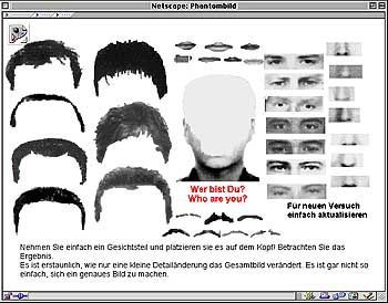 Phantom-Baukasten der Polizei Bochum: Bisher erfolglose Fahndung, auch via Internet