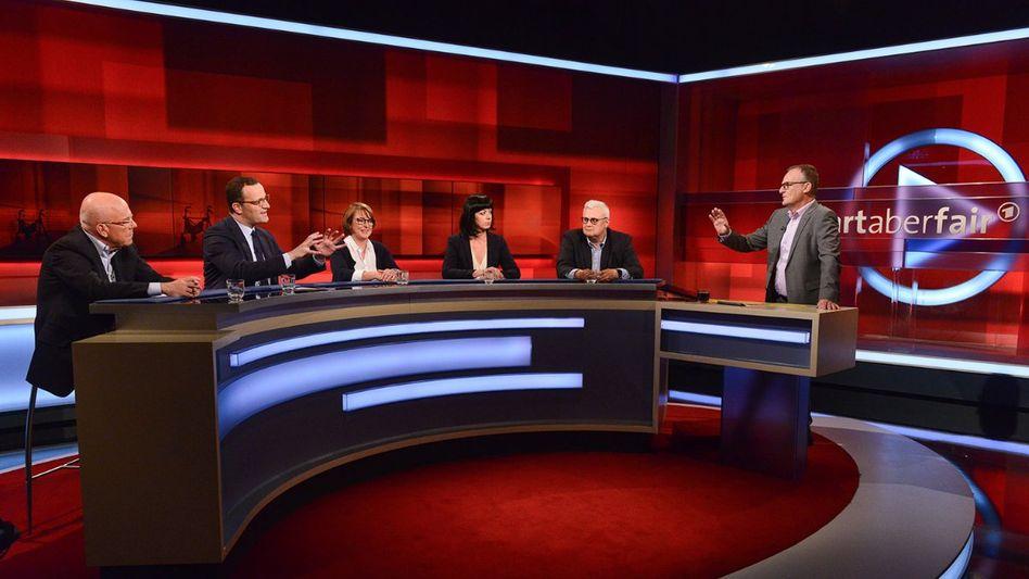 Moderator Plasberg (r.) mit seinen Gästen