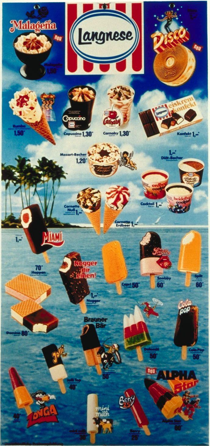 Eiskarte 80er