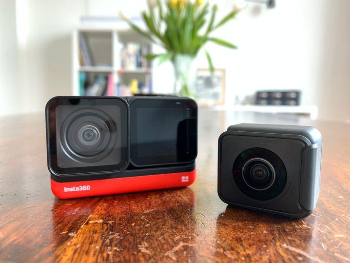In der Twin Edition wird die Insta360 One R mit einem 4K-Modul (links) und einem 360-Grad-Modul geliefert