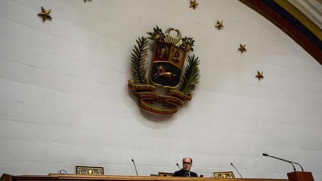 Parlamentspräsident Julio Borges in Caracas