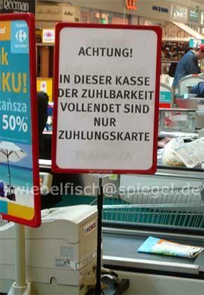 Gefunden in einem Carrefour-Supermarkt in Stettin, eingeschickt von Eduard Krahé