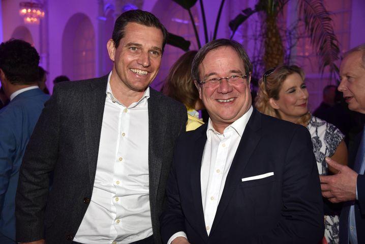 NRW-2032-Initiator Michael Mronz und Ministerpräsident Armin Laschet