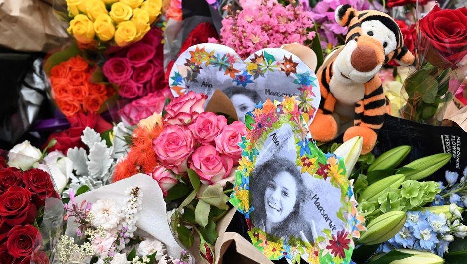 Blumen zum Gedenken in Melbourne