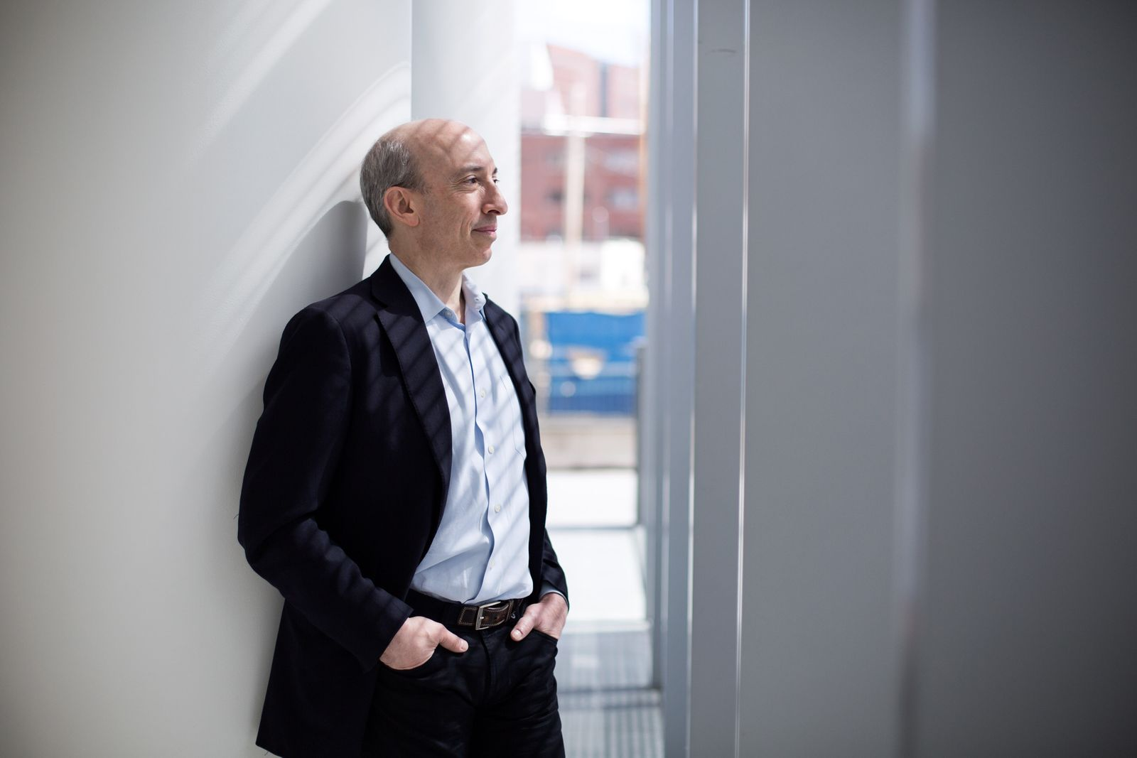 Gary Wensler, President Joe Biden's nominee to lead the Securities and Exchange Commission, at the MIT Media Lab in Cambridge, Mass., April 20, 2018. (Kayana Szymczak/The New York Times)