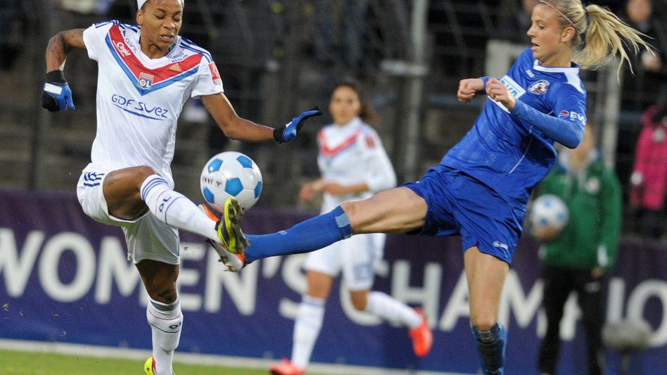 Turbine-Spielerin Elsig (r.): Sieg über Lyon