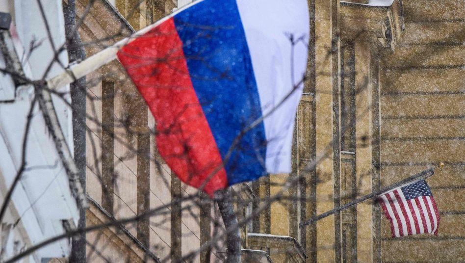 Die US-Botschaft in Moskau: Künftig die einzige diplomatische Vertretung in dem Land