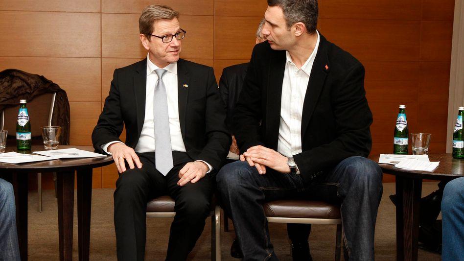 """Außenminister Westerwelle mit Oppositionellem Klitschko: """"Wunsch nach einer europäischen Ukraine"""""""