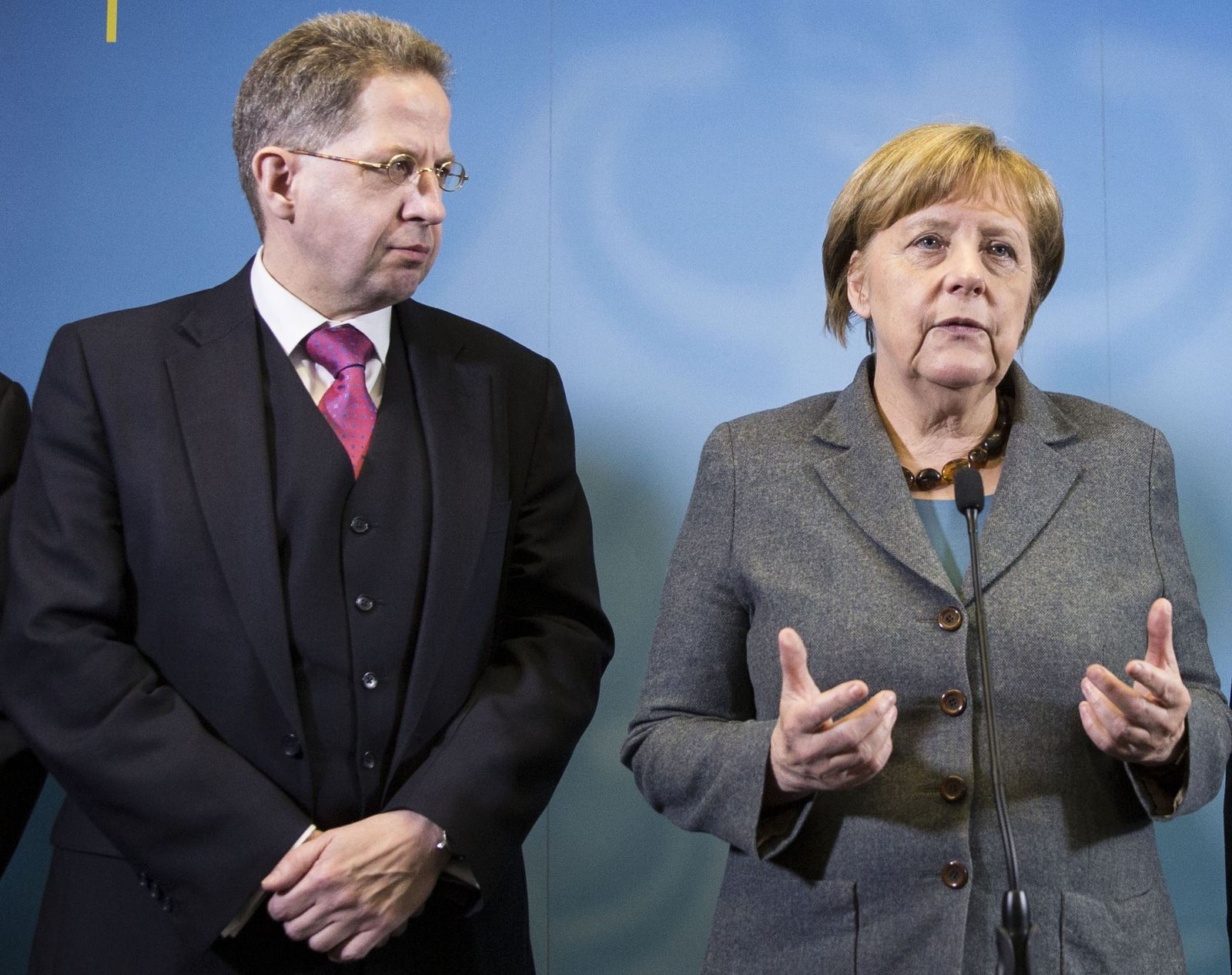 EINMALIGE VERWENDUNG Angela Merkel/ Maaßen