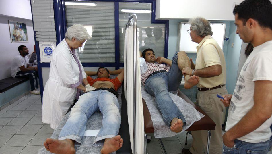 """Medizinzentrum der Hilfsorganisation """"Ärzte der Welt"""" in Athen (2012)"""
