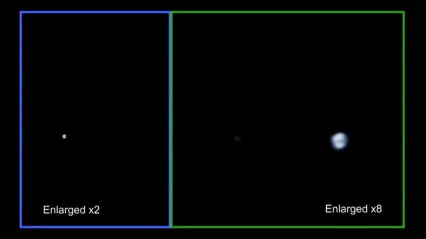 EINMALIGE VERWENDUNG - ANIMIERT Juno Earth Flyby