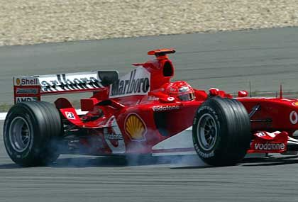 Wieder auf Erfolgskurs: Michael Schumacher im Ferrari