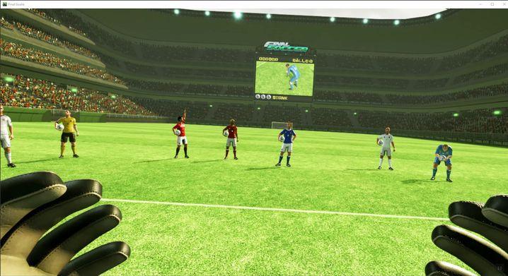 """Torwart-Rolle in """"Final Soccer VR"""""""