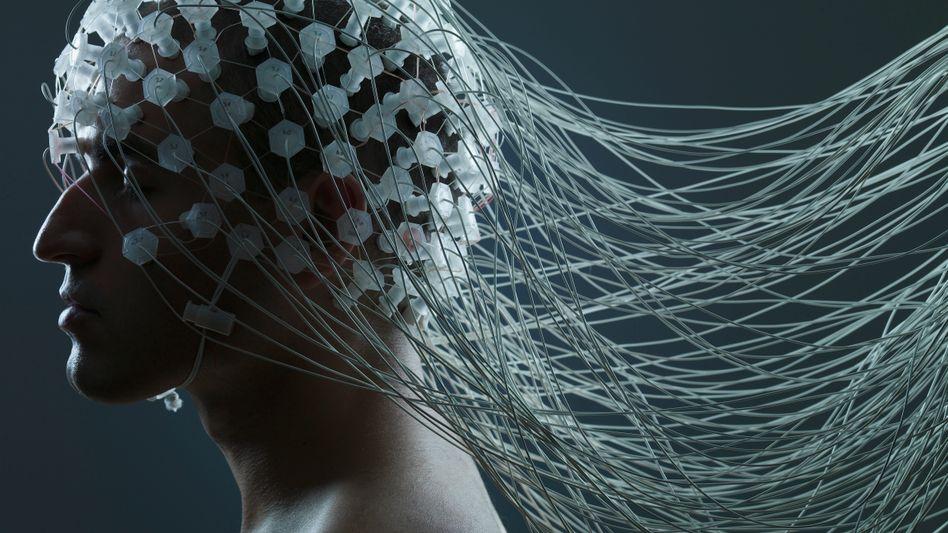Elektroden zur Messung von Hirnströmen: EEGs werden oft fehlinterpretiert