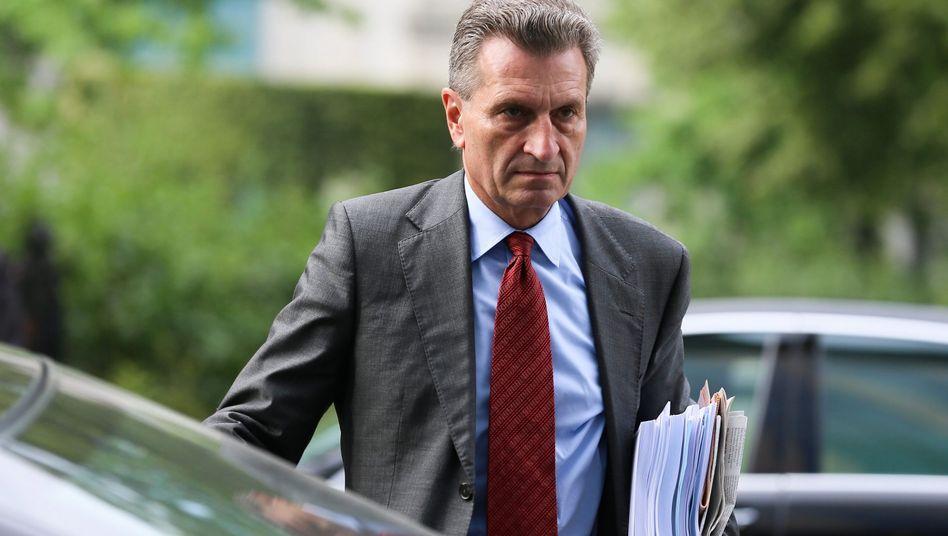EU-Energiekommissar Oettinger (im August in Brüssel): Warnung vor deutscher Dominanz