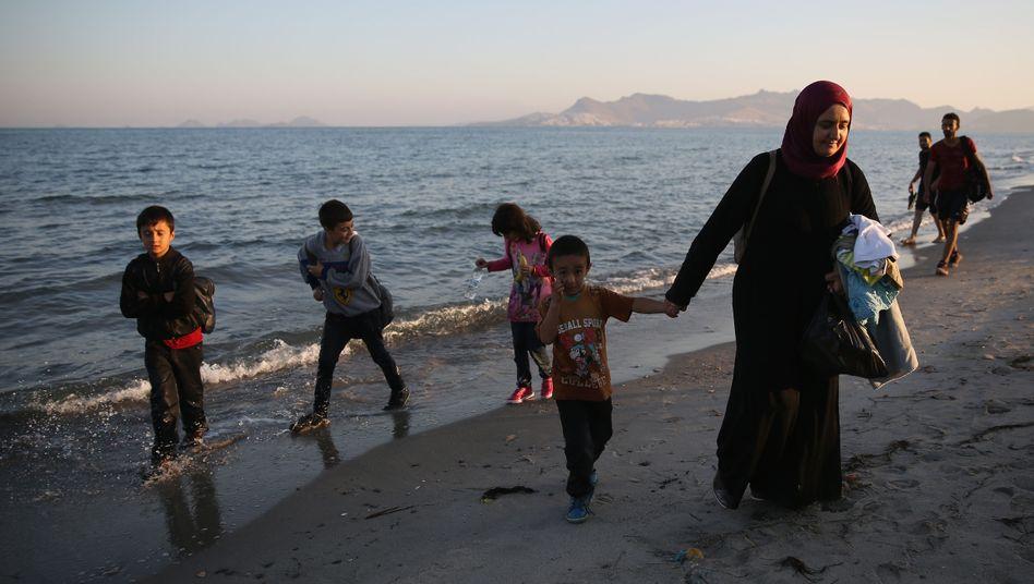 Syrische Flüchtlinge (auf der griechischen Insel Kos): Wer überleben will, muss fliehen