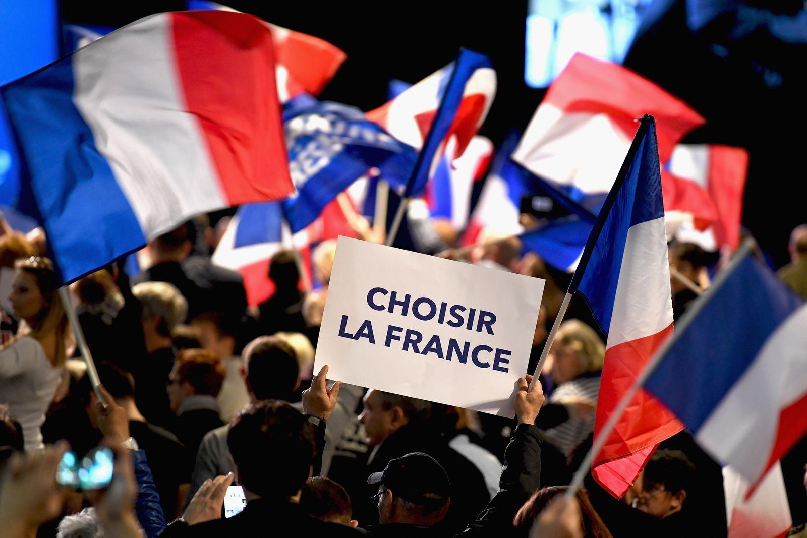 Frankreich wahlen / Le Pen / Macron / Populisten