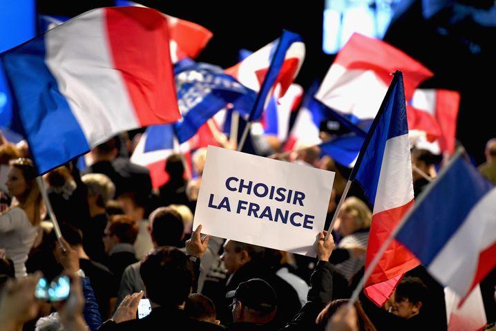 """""""Frankreich wählen"""" war das Motto von Le Pens Wahlkampf"""