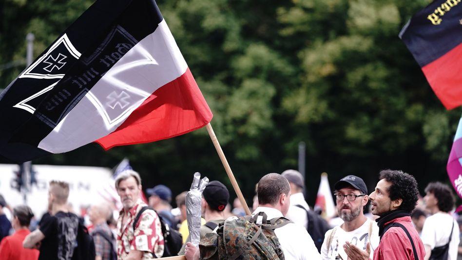 Demo gegen die Coronamaßnahmen in Berlin (im August)