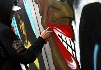 Nicht für die Ewigkeit gemacht: Ein Graffito ist morgen wieder übermalt