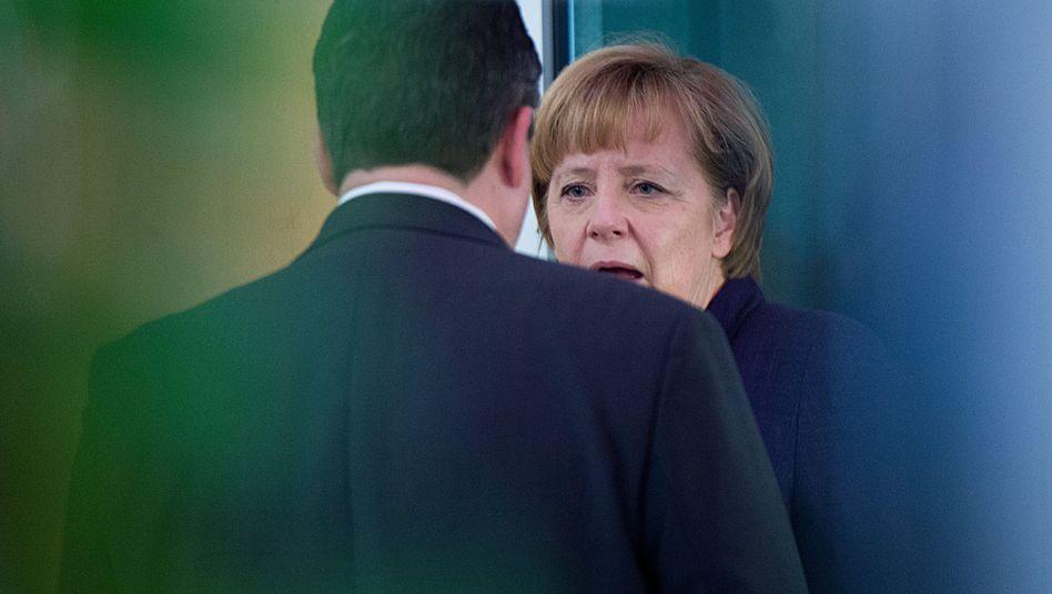 Angela Merkel und der SPD-Vorsitzende Gabriel: Viele Differenzen