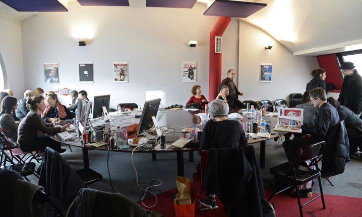 """""""Libération""""- Redaktionsräume: Hier entstand die neue Ausgabe von """"Charlie Hebdo"""""""