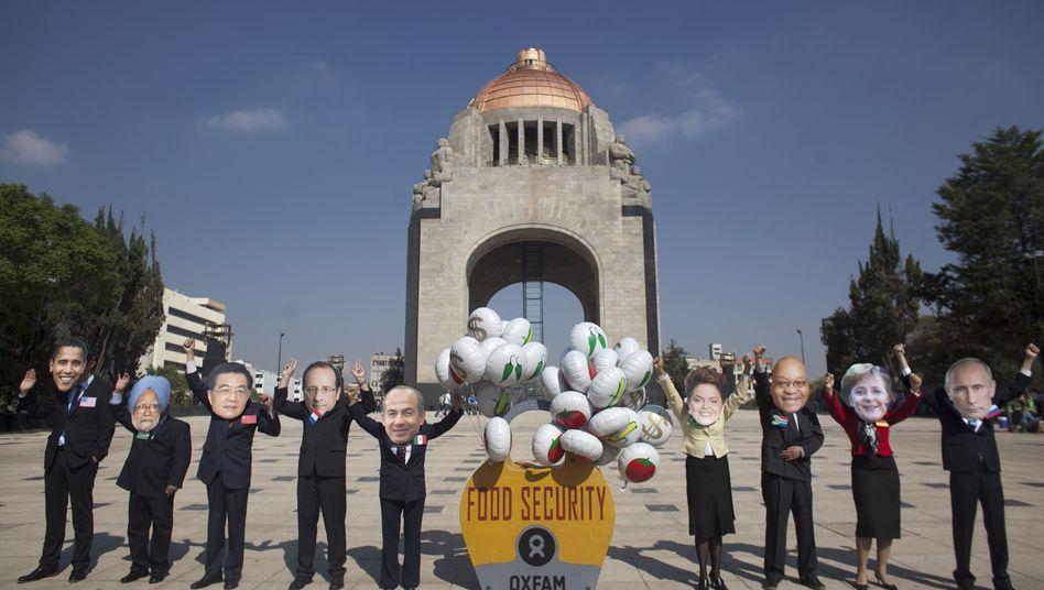 Aktion der Umweltgruppe Oxfam in Mexico City: Appell an die mächtigen Staatenlenker