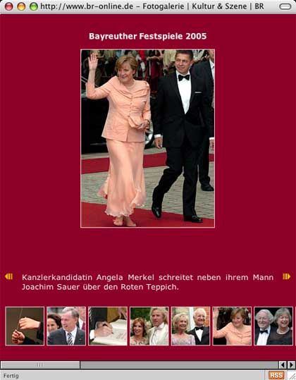 Manipuliertes Bild von br-online: Merkel unbefleckt