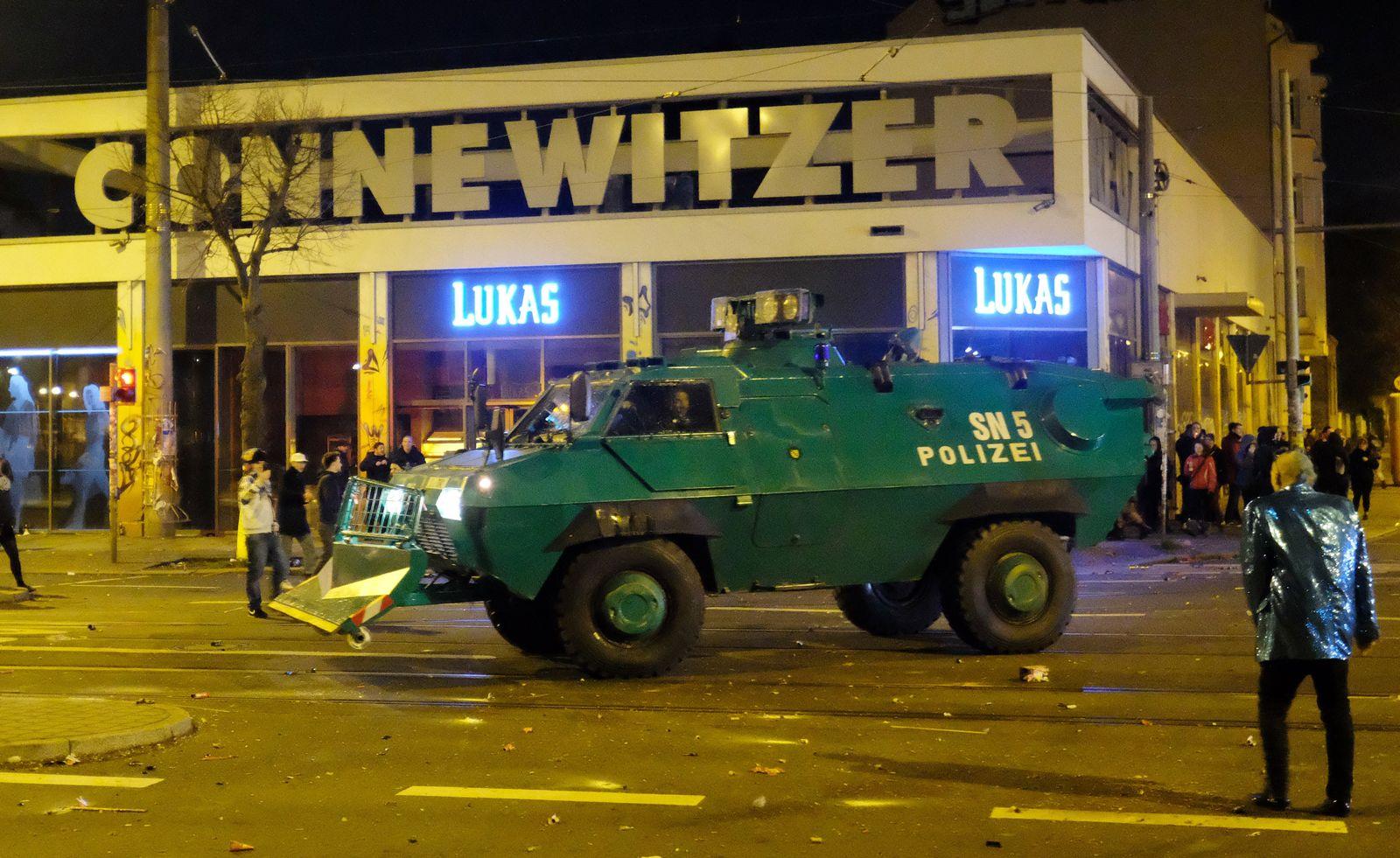 Silvesternacht - Ausschreitungen in Leipzig