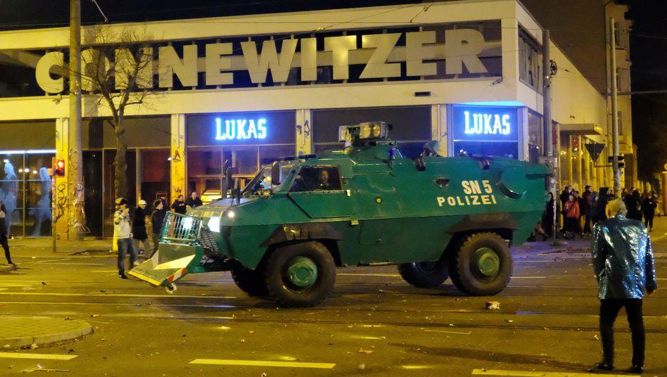 Polizeieinsatz an Silvester in Leipzig