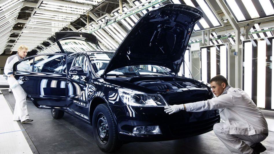 VW-Werk im russischen Kaluga: Erste Firmen stoppen Investitionen