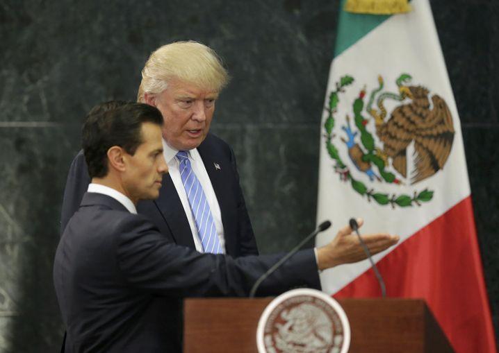 Nieto und Trump (im August 2016)