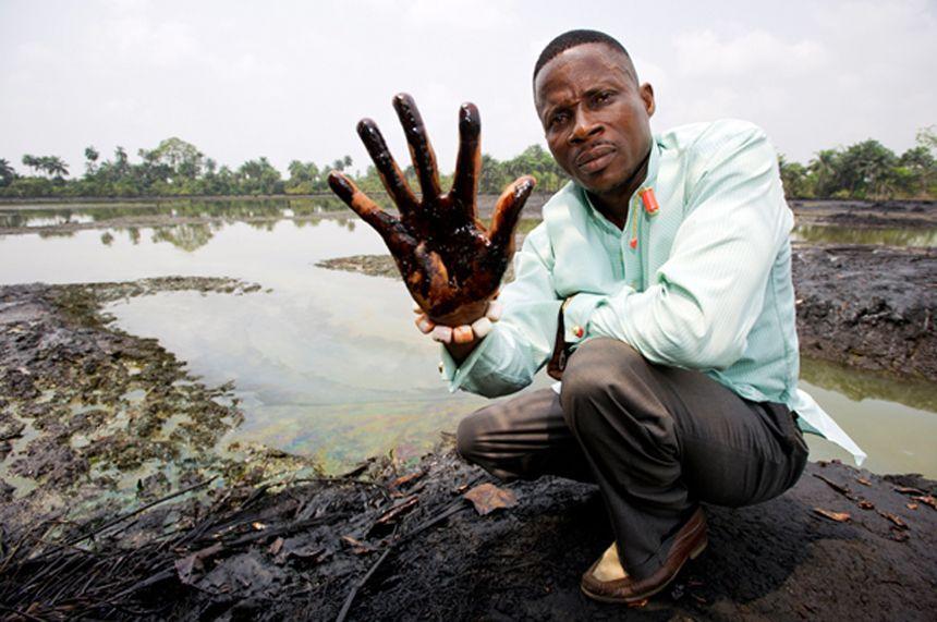 EINMALIGE VERWENDUNG Shell / Ölverschmutzung
