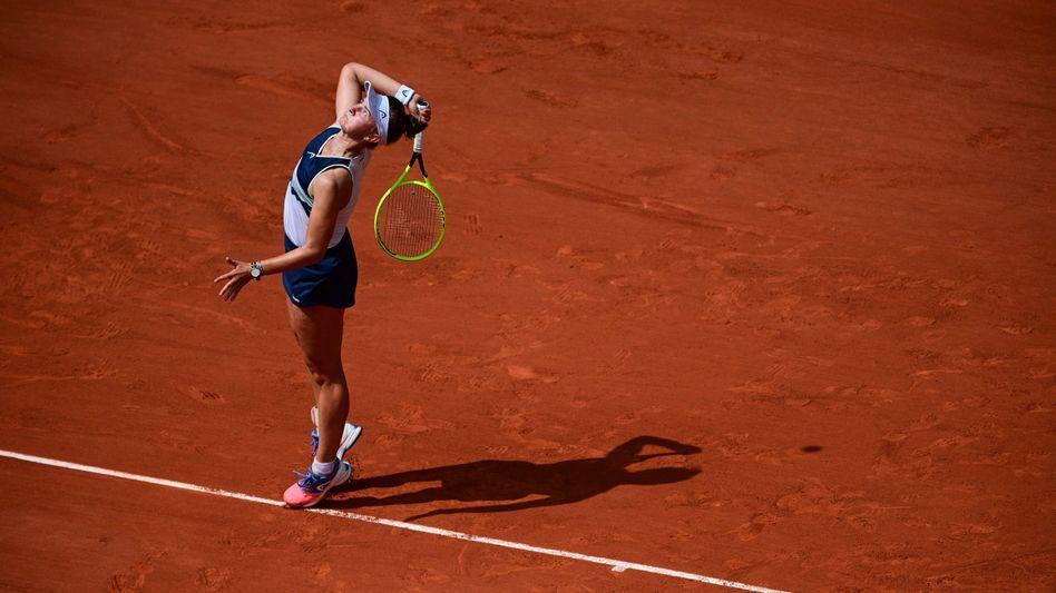 Barbora Krejčíková gewann das Duell in drei Sätzen