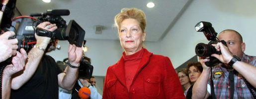 Dagmar Metzger auf dem Weg zur Fraktion: Sie behält ihr Mandat