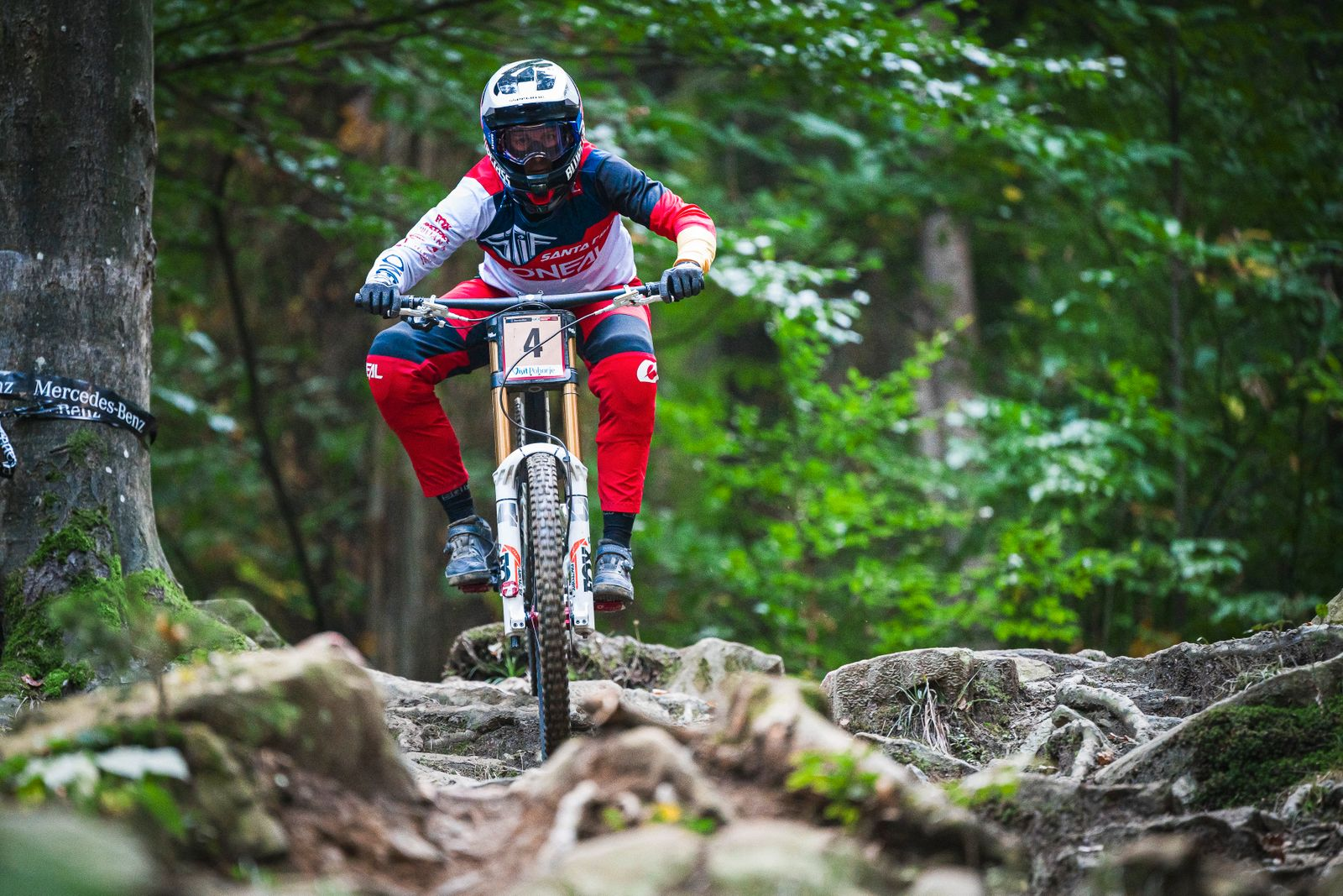 Nina Hoffmann of Germany competes during the UCI Mountain