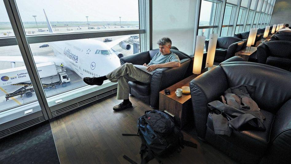 Senator-Lounge der Lufthansa im Flughafen Frankfurt Rhein-Main: Es geht um Bevorzugung in einer Massenindustrie