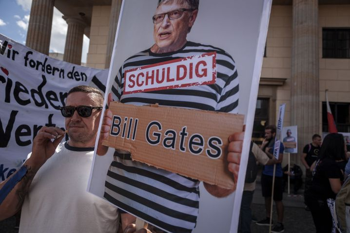 A target for conspiracy theorists: Gates critics in Berlin
